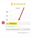 Click the Sign up Button to Create your FREE Binance Account using My Referral ID: 17992003