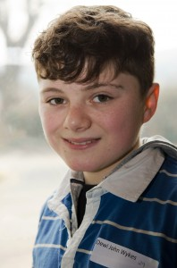 Dewi Wykes, the boy selected to star in Sweeney Todd alongside Bryn Terfel and Sian Cothi at Llangollen