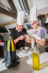 Junior Master Chefs at Bodnant Welsh Food with Dai Chef. dai with Ben Garbutt, 12