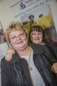 Smartcare Awards at Catrin Finch Centre, Wrexham. Denise Roth with assessor Ann Farr.