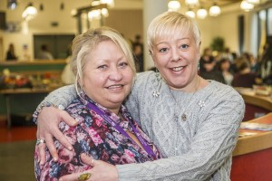 Smartcare Awards at Catrin Finch Centre, Wrexham. Assessor Teresa Pritchards with Tina Evans from the Conifers Care Home, Ruabon.