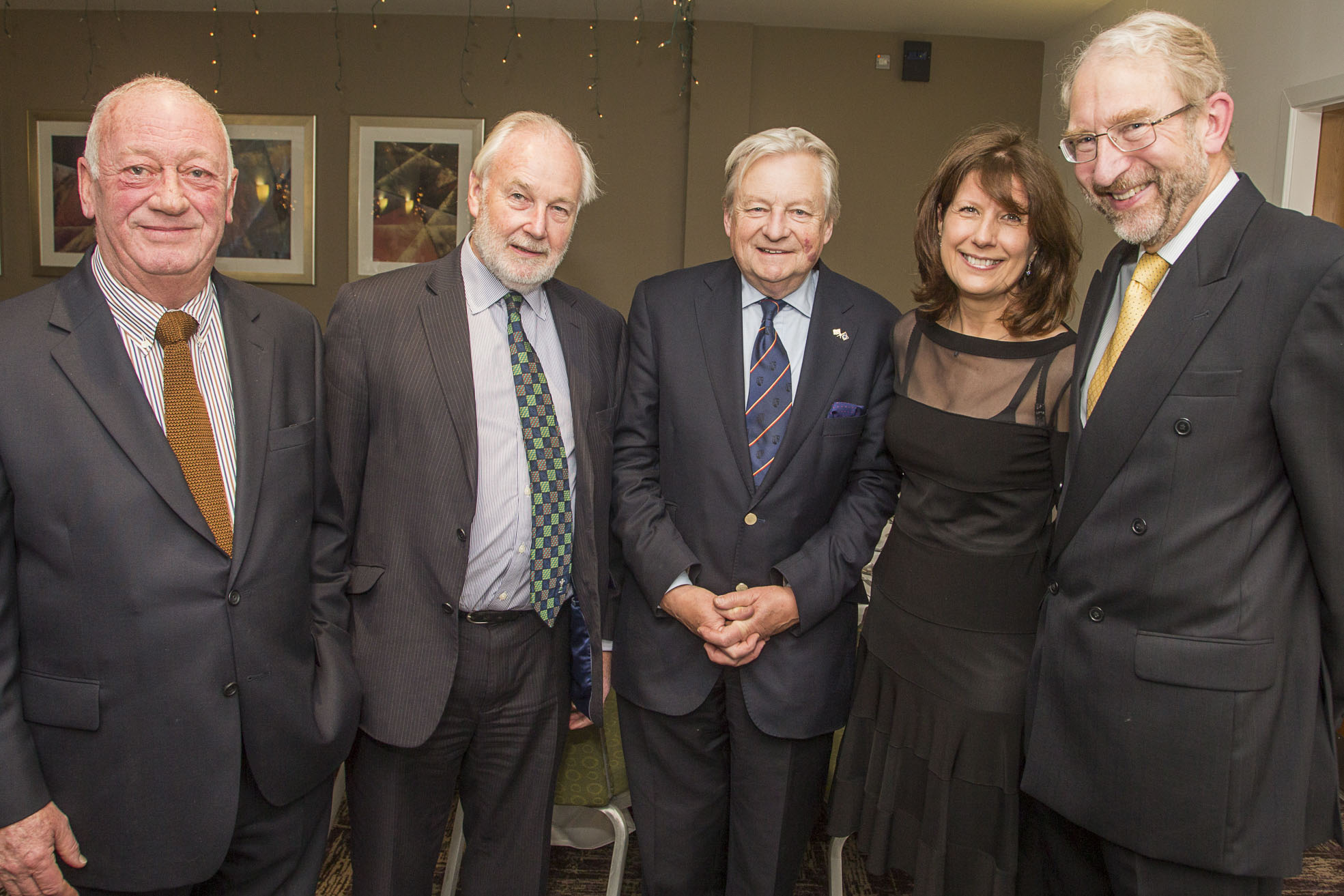 Wrexham Business Professionals evening with Lord Dafydd Ellis-Thomas at the Ramada, Wrexham. Guest speaker Lord Dafydd Elis Thomas, with Gill Atkinson, Peter Butler, right, Alan Jones, left and Robert Godfrey.