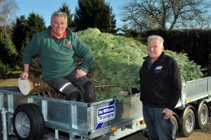 Colin Griffith of Dinmore Hill Christmas Tree thanks John Bufton.