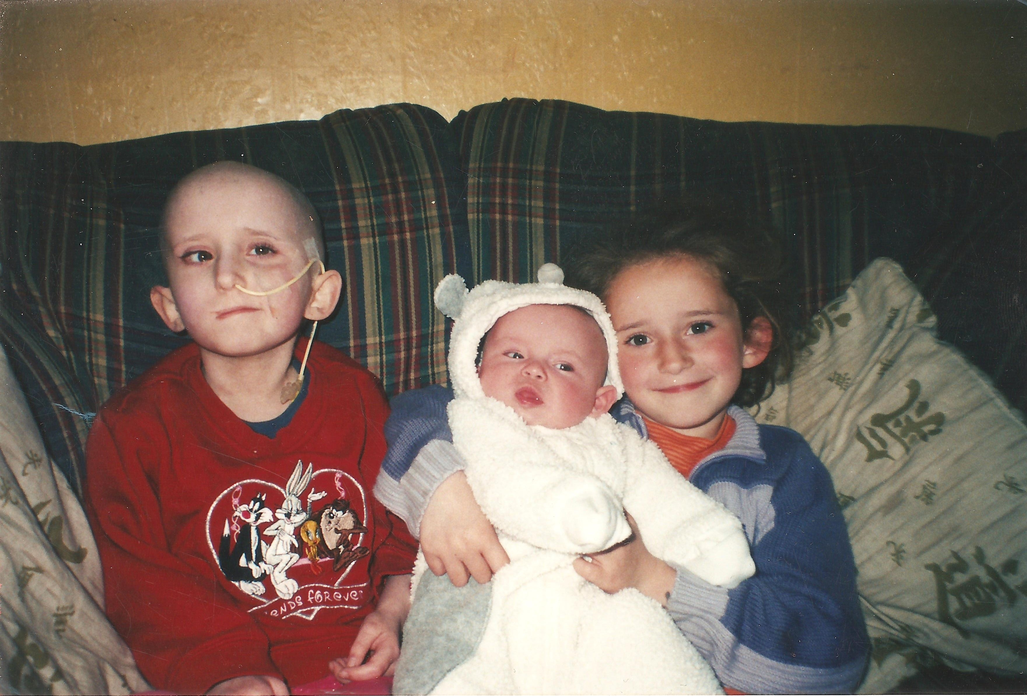 Rebekah on left, Lauren on right and Emily as a baby