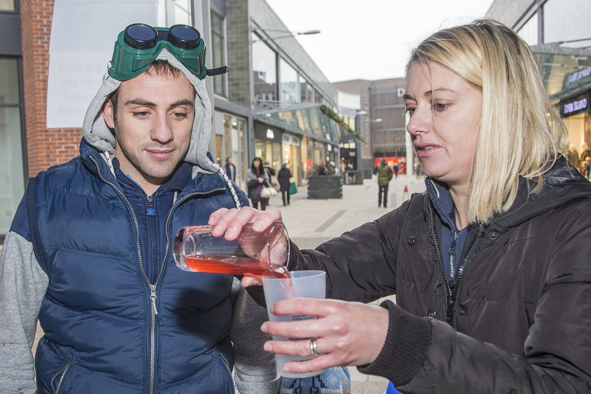 Wrexham shoppers tackle beer goggle challenge