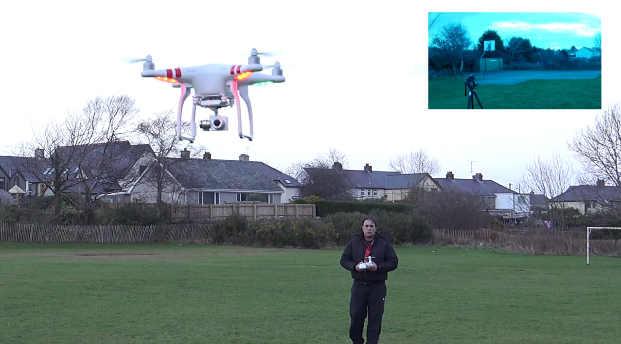 DJI Phantom 2 Vision plus gimbal test