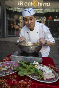 Eagles Meadow Shopping Centre Wrexham. Rong Wang chef at Real China Restaurant
