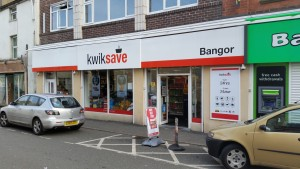 Kwiksave on Bangor high street currently run by Manny Shoker.
