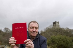 Conwy Valley man - Bill Morris with his book My Little Event.
