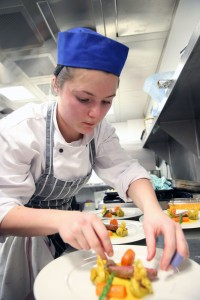 Vivienne Read in action in the Junior Chef of Wales South Wales heat.