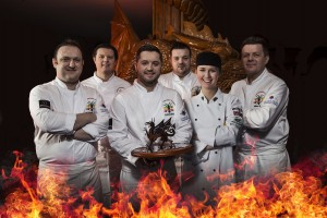 The winning South Wales chefs team with the Battle for the Dragon trophy.