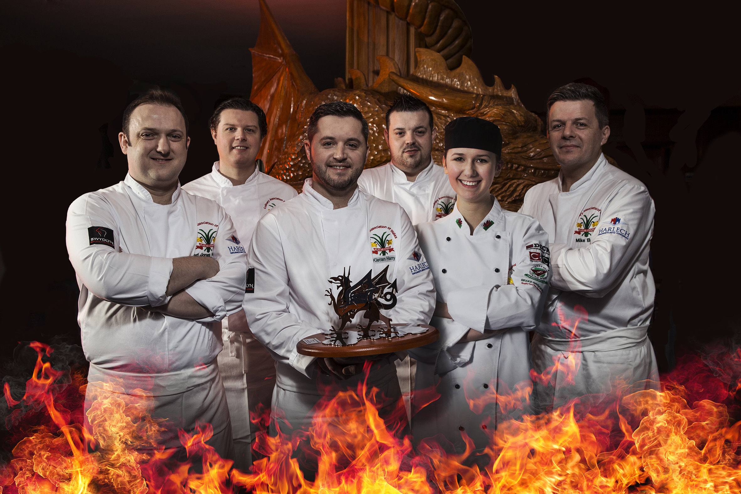 The winning South Wales team with the Battle for the Dragon trophy.
