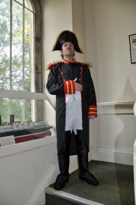 Actor Iwan Charles will be Napoleon at the Gwynedd Museum and Art Gallery this Friday