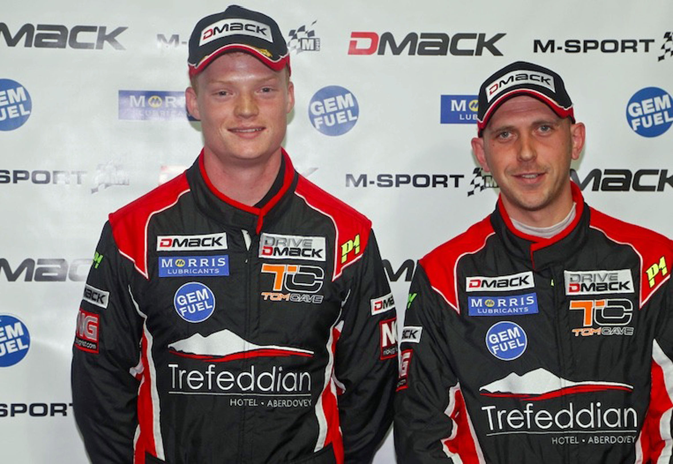 Tom Cave and co-driver Craig Parry.