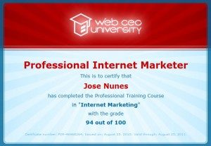 Certified Internet Marketing Consultant Certificate number: PIM-46968264