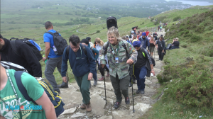 Sonowdon Rocks with Mike Peters - The arlarm - Over 400 people braved the rain to summit Snowdon on Saturday