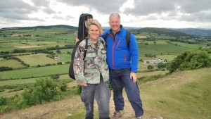 Mike Peters with BBC weatherman Derek Brockway, who will be joining Mike on the walk up Snowdon.