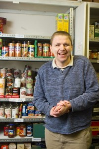 John collecting food donations