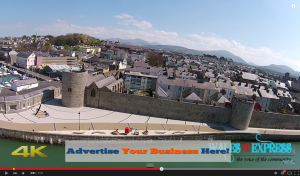 Wales Express Aerial Video sponsor space example