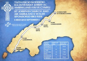 The route map of the St Joseph's Church bike ride.