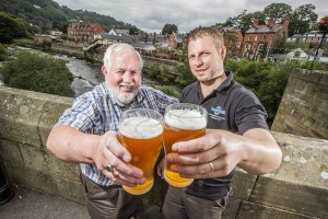 Colin Loughlin from Llangollen Food Festival with Ynyr Evans from Llangollen Brewery.