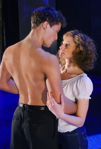 Lewis Kirk and Jessie Hart as Johnny and Baby in Dirty Dancing. Picture by Tristram Kenton