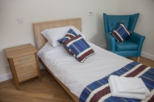 One of the resident's rooms at Bryn Seiont Newydd