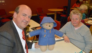 Valerie Vine of Barmouth received a valuation of up to £100 from Halls' fine art director Jeremy Lamond for a Paddington Bear which was gifted to her 45 year ago while working as a nanny in London.