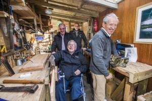 The Men's Shed project  in Llanrwst. has been officially opened. Enjoying the facilities, from left, John Hudson, Bryan Jones, David Jones and Ian Hutchinson