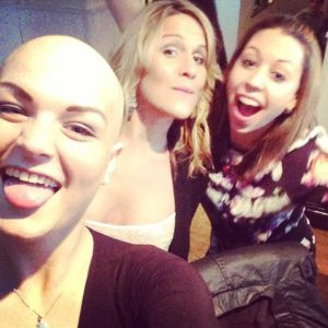 Robyn Lock with friends during her cancer treatment.