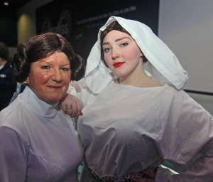 Sue Dickinson of Tan y Fron and Jessica Turner of Nercwys, Flintshire who dressed as Princess Leia.