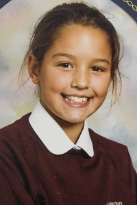 Nicola Riley  is pictured in a school photo aged 11. She faced her cancer battle with bravery and a smile.