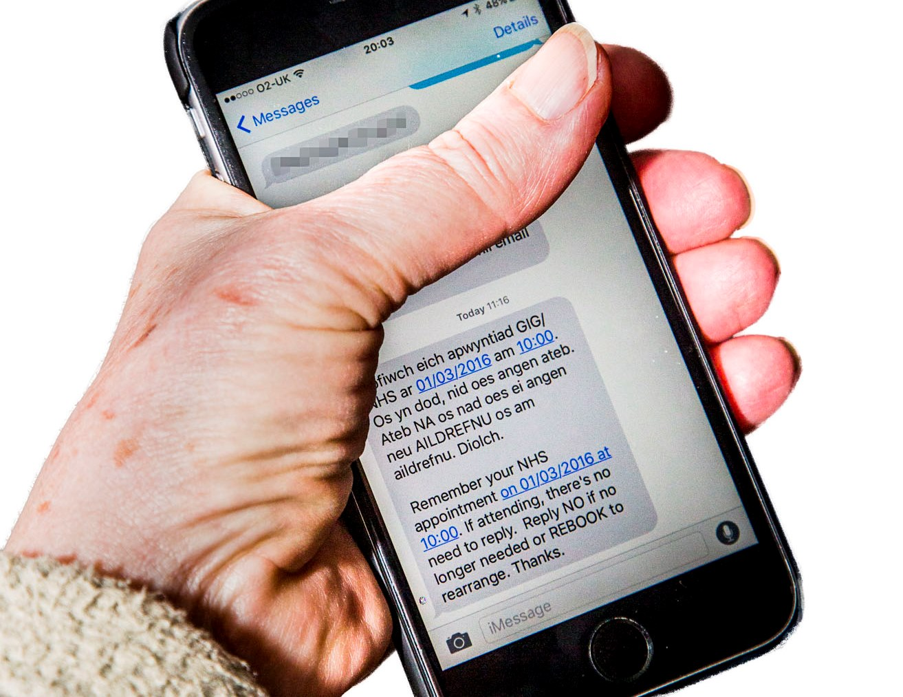 Hospital appointment text alerts help deliver savings of more than £1.4m to health board