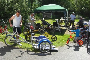 Examples of the adaptive bikes that will be heading for the Mawddach Trail next month.