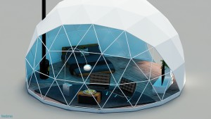 A glamping dome.