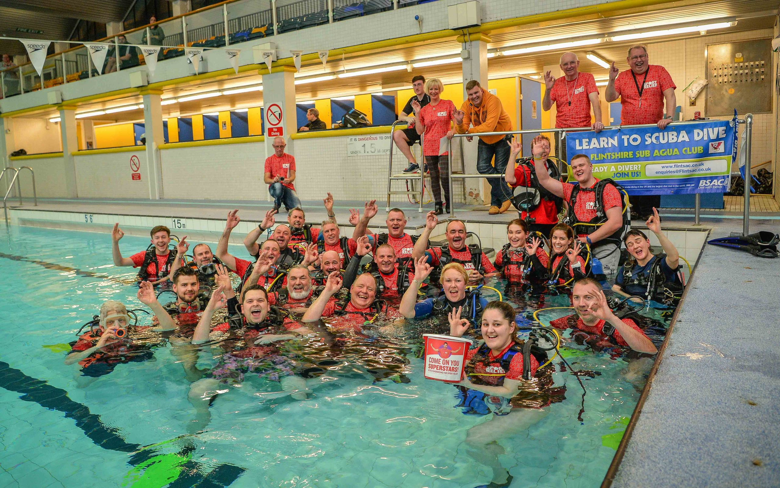 Scuba divers' underwater egg and spoon 'Olympics' raises cash for Sport Relief