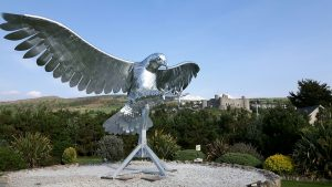 The eagle has landed at Min-y-Don Holiday Home and Touring Park.