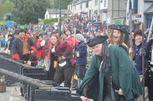 The Conwy Pirate Weekend always attracts hordes of visitors.