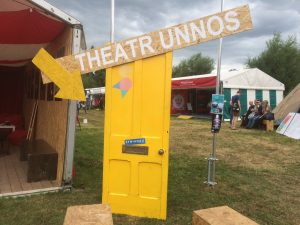 Use #TheatrUnnos or post your theme ideas through the letterbox of the bright yellow door in the Pentref Drama. Idea pulled out of hat 5:30pm on Thursday (5 Aug)