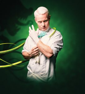 Rhydian Roberts as The Dentist in Little Shop of Horrors