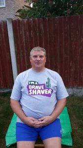 Richard before the head shave