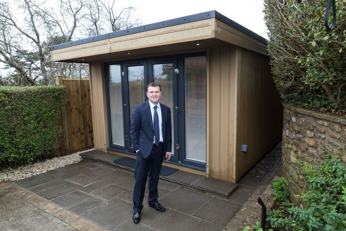 Garden Office Space Unique Garden Office With Canopy And Decking