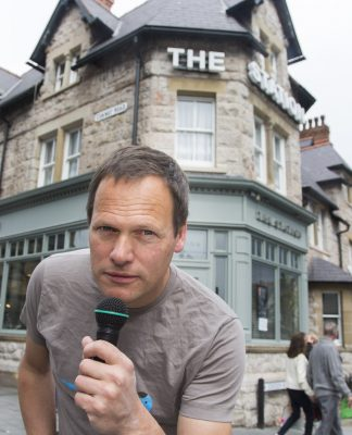 Pictured is Dave Rothnie, an award-winning comic who has started a comedy night once a month at the Station Pub in Colwyn Bay.