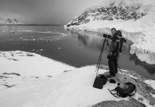 landscape photographer Joe Cornish, pictured in the Artic, who will be speaking at Cambrian Photography's photo show in Colwyn Bay in May CREDIT: Joe Cornish