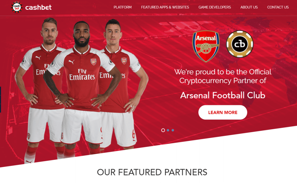 Arsenal FC 'Official Cryptocurrency Partner'