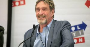 John McAfee Bitcoin at $1 Million by 2020
