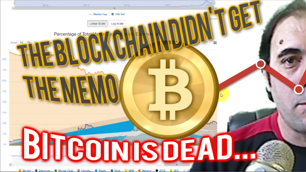 Cryptocurrency Market Capitalization – Bitcoin is going down?