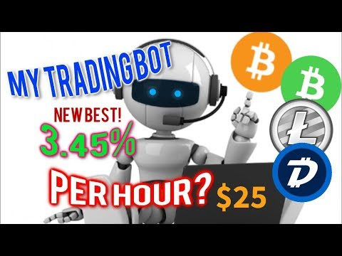 My Bitcoin Cryptocurrency trading bot new best 3.45% per hour