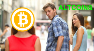 Massive Sell-off of altcoins for BITCOIN 8 months ago - You're watching history in the making.