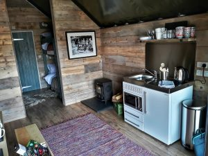 Brand new luxury glamping lodges at The Slate Caverns - Cooking Area - Photo by Adam Lemalle